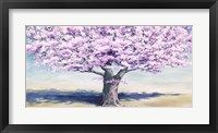 Framed Peach Tree