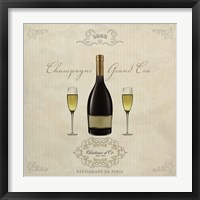 Framed Champagne Grand Cru