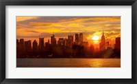 Framed Sunset over Manhattan