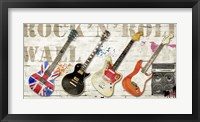Framed Rock and Roll Wall
