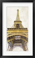 Framed Gilded Eiffel Tower