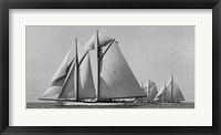 Framed Schooner Race