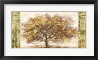 Framed Golden Tree Panel