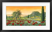 Framed Le Colline in Fiore