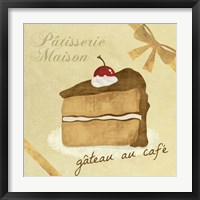 Framed Gateau au Cafe