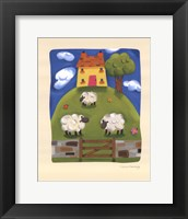 Framed Yellow Farmhouse