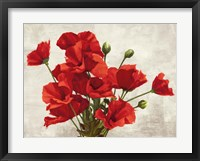 Framed Bouquet of Poppies