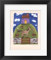 Framed Purple Farmhouse