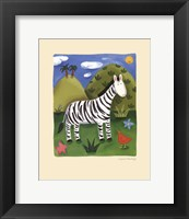Framed Zara the Zebra