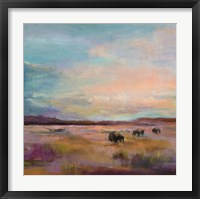 Framed Buffalo Under Big Sky