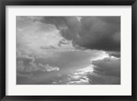 Framed Luminous Clouds I BW