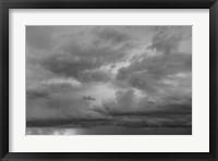 Framed Luminous Clouds II BW