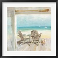 Framed Seaside Morning Crop