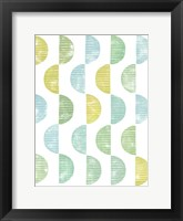 Semi Circle Block Print II Framed Print