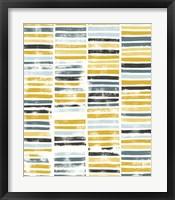 Saffron Block Print II Framed Print