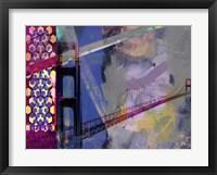 San Francisco Bridge Abstract II Framed Print