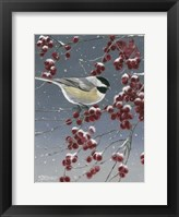 Framed Winter Chickadees I