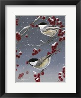 Winter Chickadees II Framed Print