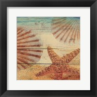 On Sandy Beach II Framed Print
