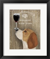 Framed Dog Au Vin Beagle