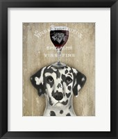 Framed Dog Au Vin Dalmatian
