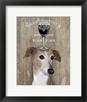 Framed Dog Au Vin Greyhound