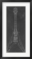 Electric Guitar Blueprint I Framed Print