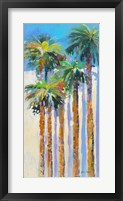 Shadow Palms II Framed Print