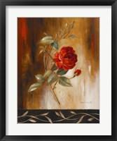 Framed Crimson Rose I
