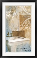 Bathroom & Ornaments II Framed Print