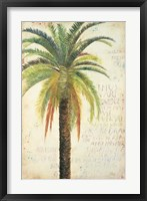 Palms & Scrolls II Framed Print