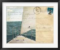Voyage Postcard I Framed Print
