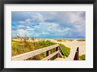 Framed Beach Island I