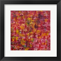 Mixed Emotions in Red I Framed Print
