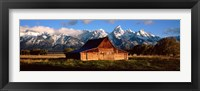Framed Alma Moulton Barn