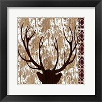 Framed Wilderness Deer