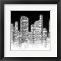 Black and White City II Framed Print