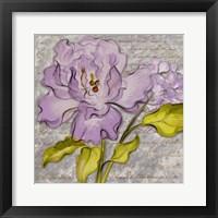 Purple Florals II Framed Print