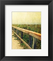 Beach Rails II Framed Print