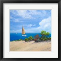 Sailboat on Coast I Framed Print