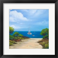 Framed Sailboat on Coast II