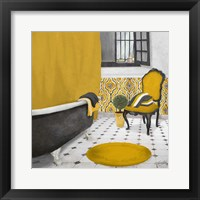 Framed Sundance Bath I (yellow)