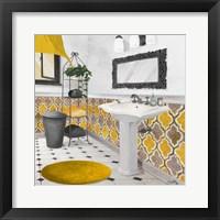 Framed Sundance Bath II (yellow)