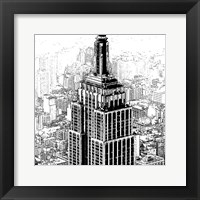 Framed Empire State Sketch