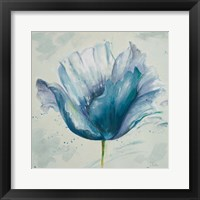 Flower in Blue I Framed Print