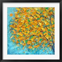 Framed Autumn On Teal