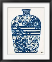 The Indigo Pottery II Framed Print