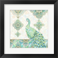 Framed Emerald Peacock II