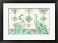 Framed Emerald Peacock Rectangle