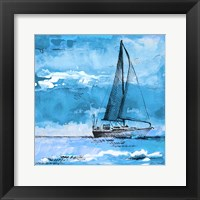 Coastal Boats in Watercolor I Framed Print